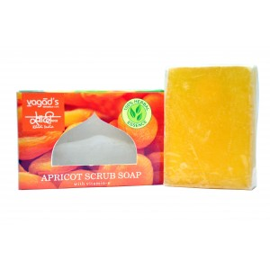 Buy Vagad's Khadi Peach & Apricot with walnut scrub Handmade Soap - Nykaa