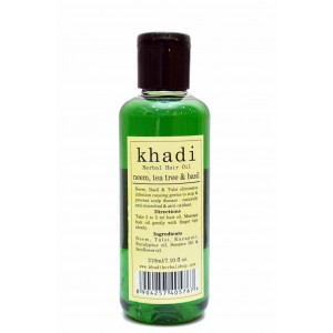 Buy Khadi Neem, Tea Tree & Basil Hair Oil - Nykaa