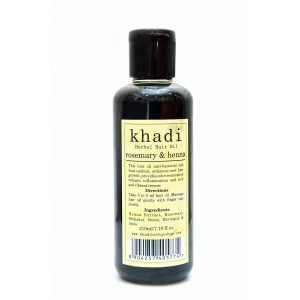 Buy Khadi Rosemary & Heena Hair Oil - Nykaa