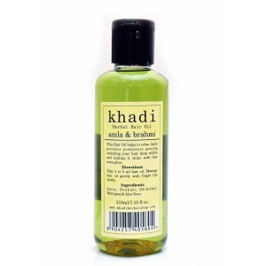 Buy Khadi Amla & Brahmi Hair Oil - Nykaa