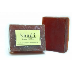Buy Khadi Chandan-Haldi Soap - Nykaa
