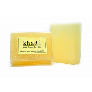 Buy Khadi Mint & Seasame Seed Soap - Nykaa