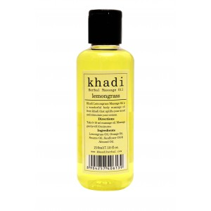 Buy Herbal Khadi Lemongrass Massage Oil - Nykaa