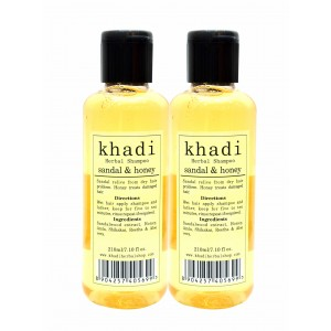 Buy Khadi Sandal & Honey Shampoo (Pack of 2) - Nykaa