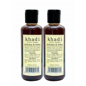Buy Khadi Shikakai & Honey Shampoo (Pack of 2) - Nykaa