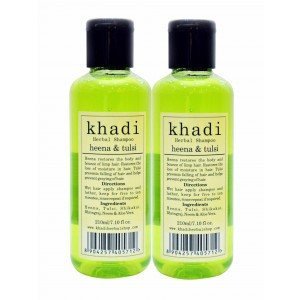 Buy Khadi Heena & Tulsi Shampoo (Pack of 2) - Nykaa