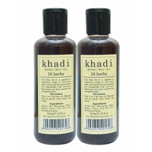 Buy Khadi 18 Herbs Hair Oil (Pack of 2) - Nykaa