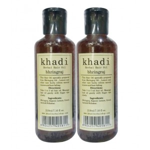 Buy Khadi Bhringraj Hair Oil (Pack of 2) - Nykaa