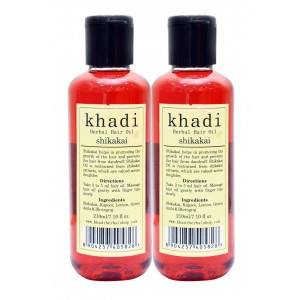 Buy Khadi Shikakai Hair Oil (Pack of 2) - Nykaa