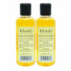 Buy Khadi Orange & Lemongrass Face Wash (Pack of 2) - Nykaa