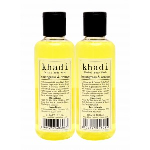 Buy Khadi Lemongrass & Orange Body Wash (Pack of 2) - Nykaa