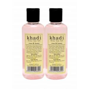 Buy Khadi Rose & Honey Body Wash (Pack of 2) - Nykaa