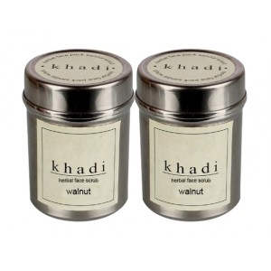 Buy Khadi Walnut Face Scrub (Pack of 2) - Nykaa