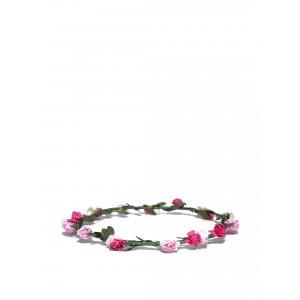 Buy Toniq Pink Laurel Head Garland - Nykaa