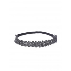 Buy Toniq Black Floral Head Band - Nykaa