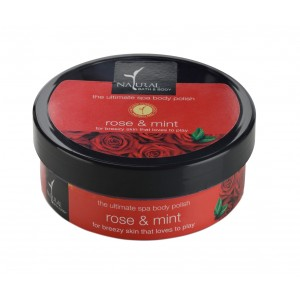 Buy Natural Bath & Body Rose & Mint The Ultimate Spa Body Polisher - Nykaa
