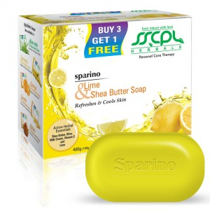 Buy SSCPL Herbals Sparino Lime Shea Butter Soap - Nykaa