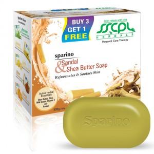 Buy SSCPL Herbals Sparino Sandal Shea Butter Soap - Nykaa