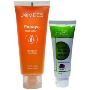 Buy Jovees Papaya Face Wash + Free Aurvedic De -Tan Scrub - Nykaa