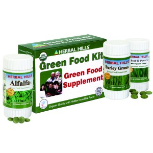 Buy Herbal Hills Green Food Supplement Kit (Wheatgrass, Alfalfa, Barley Grass) - Nykaa