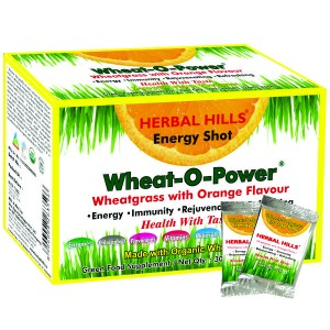 Buy Herbal Hills Wheat-O-Power Orange Flavour 2g X 30 Sachets Powder - Nykaa