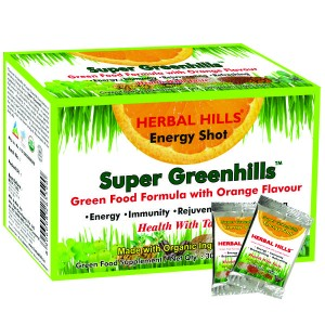 Buy Herbal Hills Super Greenhills Orange Flavour 2g X 30 Sachets Powder - Nykaa