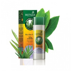 Buy Herbal Biotique Aloe Vera Face & Body Sun Lotion SPF 30 UVA/UVB Sunscreen - Nykaa