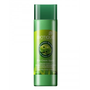 Buy Biotique Green Apple Fresh Daily Purifying Shampoo & Conditioner - Nykaa