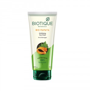 Buy Biotique Bio Papaya Exfoliating Face Wash for All  Skin Types - Nykaa