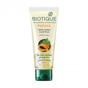 Buy Biotique Bio Papaya Visibly Ageless Scrub Wash For All Skin Types - Nykaa