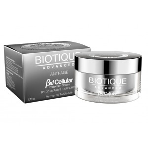 Buy Herbal Biotique Advanced BXL Cellular Anti Age Protection Cream SPF 30 UVA/UVB Sunscreen - Nykaa