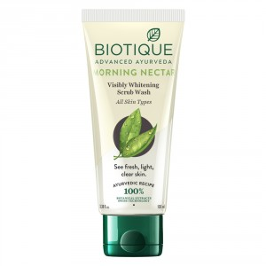 Buy Biotique Bio Morning Nectar Visibly Whitening Scrub Wash - Nykaa