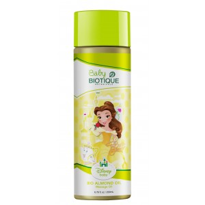 Buy Biotique Disney Baby Girl Bio Almond Massage Oil - Nykaa