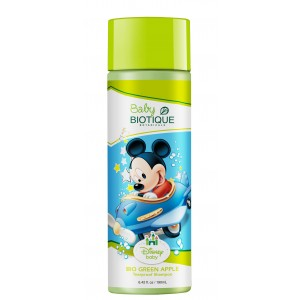 Buy Biotique Disney Baby Boy Bio Green Apple Tearproof Shampoo - Nykaa