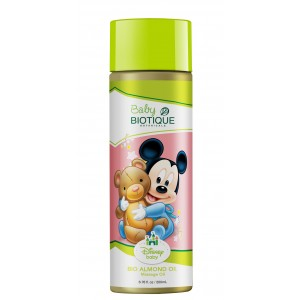 Buy Biotique Disney Baby Boy Bio Almond Massage Oil - Nykaa