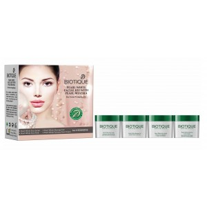 Buy Herbal Biotique Pearl White Facial Kit With Pearl Bhasma - Nykaa