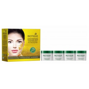 Buy Biotique Gold Radiance With Gold Bhasma Facial kit - Nykaa