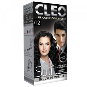 Buy Cleo Swift Hair Color Conditioner - Black 12 - Nykaa