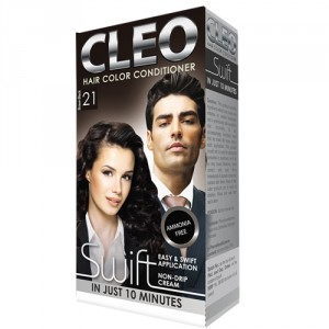 Buy Cleo Swift Hair Color Conditioner - Brown Black 21 - Nykaa
