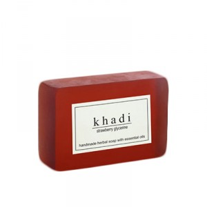 Buy Herbal Khadi Natural Strawberry Soap - Nykaa