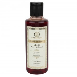 Buy Khadi Natural Honey & Almond Herbal Shampoo - Nykaa