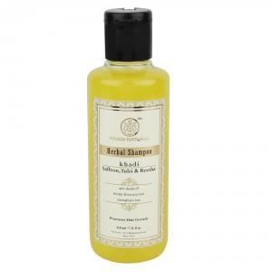 Buy Khadi Natural Saffron, Tulsi & Reetha Herbal Shampoo - Nykaa