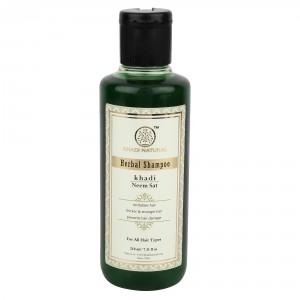 Buy Khadi Natural Neem Sat Herbal Shampoo - Nykaa