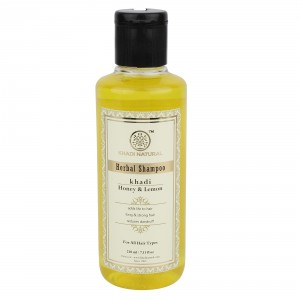 Buy Khadi Natural Honey & Lemon Juice Herbal Shampoo - Nykaa