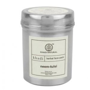 Buy Khadi Natural Neem-Tulsi Herbal Face Pack - Nykaa