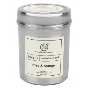 Buy Khadi Natural Rose & Orange Herbal Face Pack - Nykaa