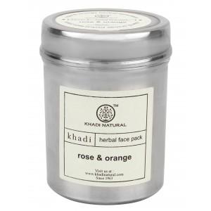 Buy Khadi Natural Rose & Orange Herbal Face Pack - Nykaa