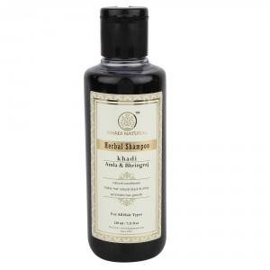 Buy Khadi Natural Amla & Bhringraj Herbal Shampoo - Nykaa
