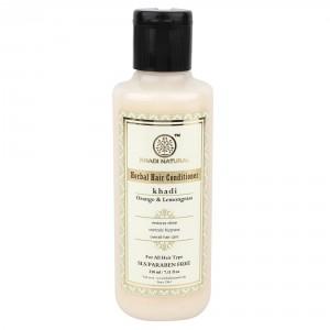 Buy Khadi Natural Orange & Lemongrass Herbal Hair Conditioner - Nykaa