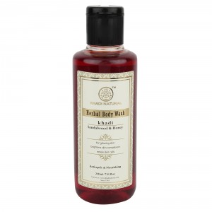 Buy Khadi Natural Sandalwood & Honey Herbal Body Wash - Nykaa